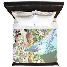 Wings of Angels Amethyst Crystals King Duvet