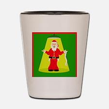 Santa Clause Being Interrogated Shot Glass
