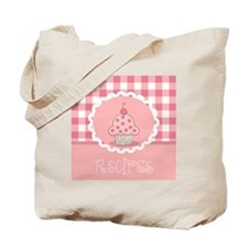 plaid recipe template with cupcake Tote Bag