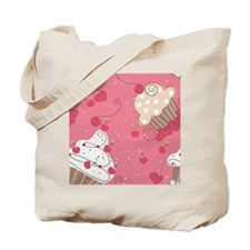seamless cupcake pattern Tote Bag
