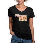 Flat Oklahoma Women's V-Neck Dark T-Shirt