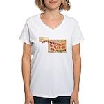 Flat Oklahoma Women's V-Neck T-Shirt