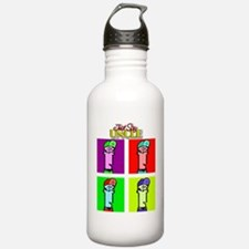 Just Say Uncle Pop Art Water Bottle