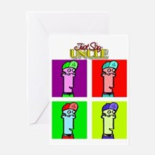 Just Say Uncle Pop Art Greeting Card