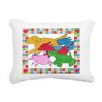 Herd o pups.png Rectangular Canvas Pillow