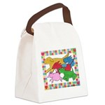 Herd o pups.png Canvas Lunch Bag