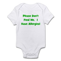 Please Don't Feed Me - Allerg Infant Bodysuit