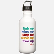 link UP wine UP jump U Water Bottle