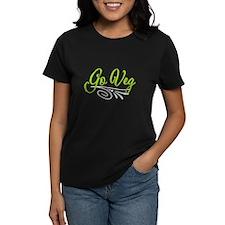Go Veg Women's Black T-Shirt