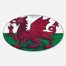 Wales Flag Sticker (Oval)