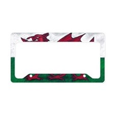 Wales Flag License Plate Holder