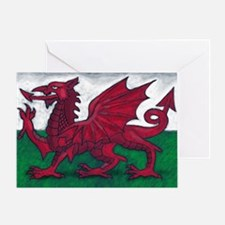 Wales Flag Greeting Card