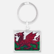Wales Flag Landscape Keychain