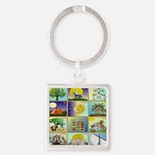 12 Tribes Of Israel Square Keychain
