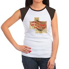 Flat Texas Women's Cap Sleeve T-Shirt