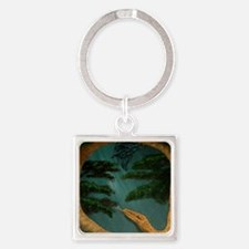 SnakesYearWide Square Keychain
