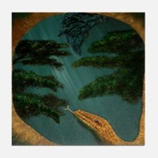 SnakesYearWide Tile Coaster