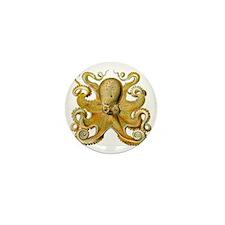 Vintage octopus cephalopod scientific  Mini Button