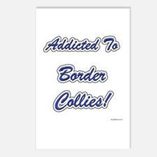 Border Collie Addicted Postcards (Package of 8)