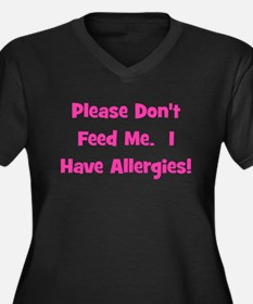 Please Don't Feed Me - Allerg Women's Plus Size V-