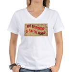 Flat Kansas Women's V-Neck T-Shirt