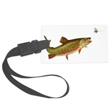 Vintage trout fishing illustrati Luggage Tag