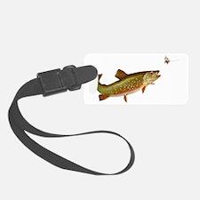 Vintage trout fishing illustrati Luggage Tag