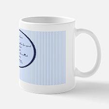 Romans 8 28 Bible Verse Blue Mug