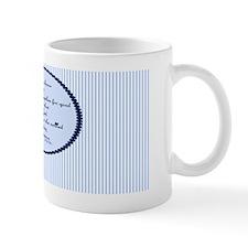 Romans 8 28 Bible Verse Blue Small Mugs