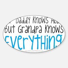 My Dad Knows ALot Blue Grandpa Decal