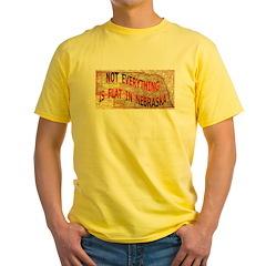 Flat Nebraska Yellow T-Shirt