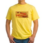 Flat Nebraska Yellow T-Shirt