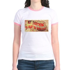 Flat Nebraska Jr. Ringer T-Shirt