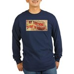 Flat Nebraska Long Sleeve Dark T-Shirt
