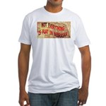 Flat Nebraska Fitted T-Shirt