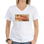 Flat Nebraska Women's V-Neck T-Shirt