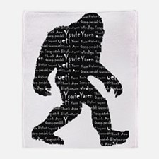 Bigfoot Sasquatch Yowie Yeti Yaren S Throw Blanket