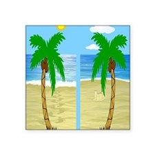 "beach flip flops Square Sticker 3"" x 3"""