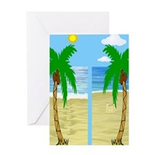beach flip flops Greeting Card