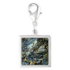 4x4 Square Labradorite Silver Square Charm