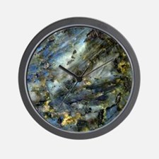 4x4 Square Labradorite Wall Clock