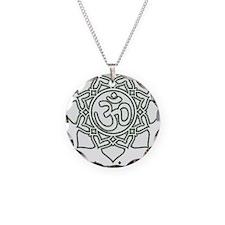 Namaste Necklace Circle Charm
