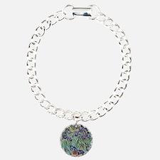 Irises by Van Gogh impre Charm Bracelet, One Charm