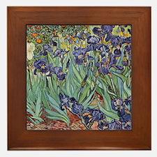 Irises by Van Gogh impressionist paint Framed Tile
