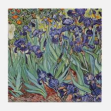 Irises by Van Gogh impressionist pain Tile Coaster