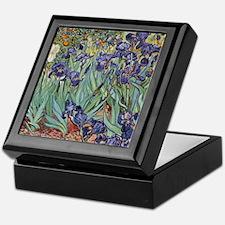 Irises by Van Gogh impressionist pain Keepsake Box