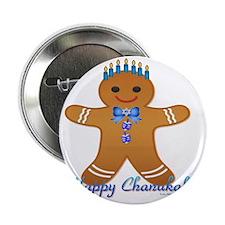 "Chanukah Gingerbread Man 2.25"" Button"