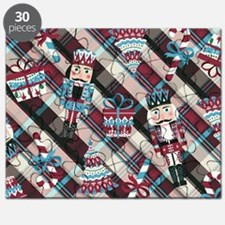 Happy Holidays Nutcracker Plaid Puzzle