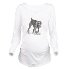 GermanWireHair.png Long Sleeve Maternity T-Shirt
