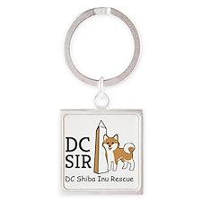 DC Shiba Inu Rescue logo Square Keychain